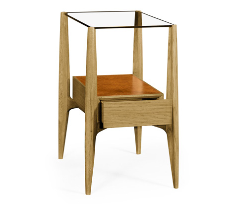 Jonathan Charles - Rectangular Architects End Table with Drawers - 495433