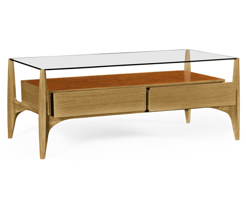 Jonathan Charles - Architects Cocktail Table with Drawers - 495435