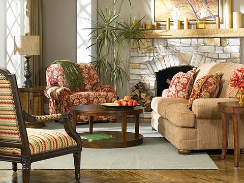 King Hickory - Edward Fabric Sofa - 8500