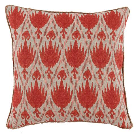 Lacefield Designs - Geranium White Eyelash Trim Pattern Pillow - D337