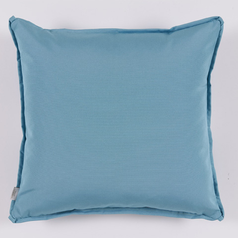 Lacefield Designs - Teal White Floral Medallion Outdoor Pillow - OUT18