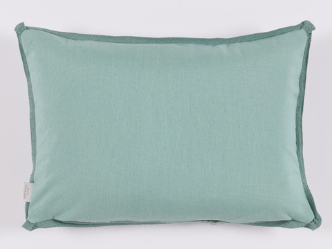 Lacefield Designs - Mint Surf Geometric Print Outdoor Lumbar Pillow - OUT35