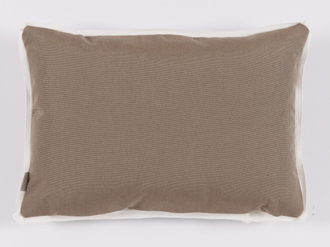 Lacefield Designs - TaupeGeometric Print Outdoor Lumbar Pillow - OUT37
