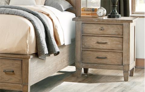 Legacy Classic Furniture - Brownstone Village Three Drawer Patina Nightstand - 2760-3100