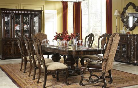 Legacy Classic Furniture - La Bella Vita Credenza with Marble Inlay - 4200-151