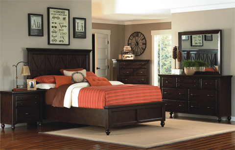 Legacy Classic Furniture - King Panel Bed - 3700-4106