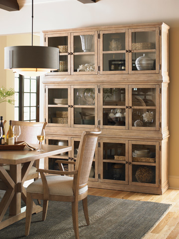 Lexington Home Brands - Sausalito Glass Door Stacking Unit - 830-908