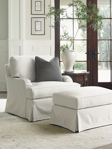 Lexington Home Brands - Stowe Swivel Slipcover Chair in Cream - 7476-11SWCR