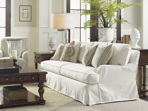 Lexington Home Brands - Stowe Slipcover Sofa in Cream - 7476-33CR