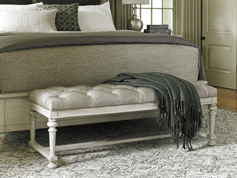 Lexington Home Brands - Bellport Leather Bed Bench - LL1773-25