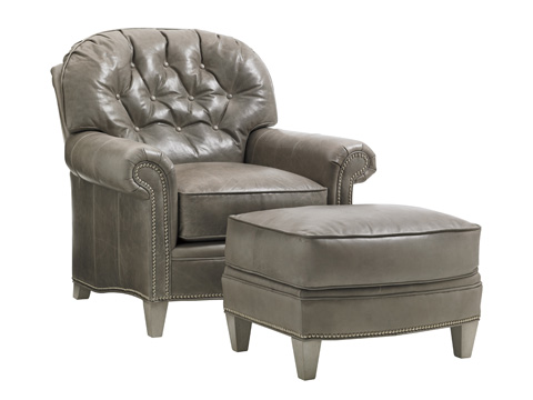 Lexington Home Brands - Bayville Leather Ottoman - LL7935-44