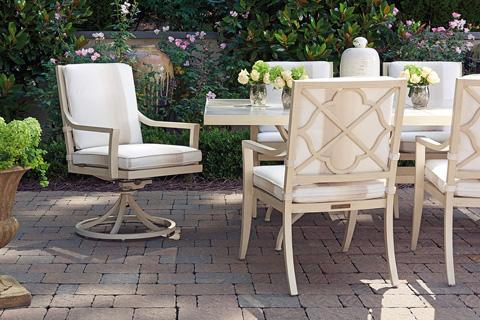Lexington Home Brands - Outdoor Swivel Rocker Dining Chair - 3239-13SR