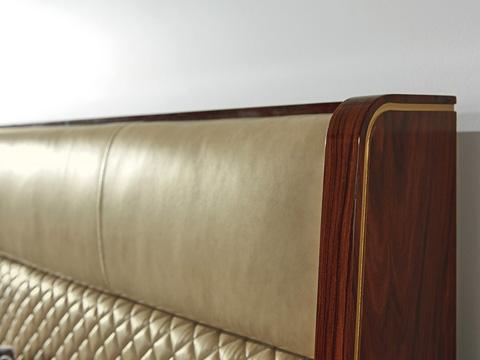 Lexington Home Brands - Empire Queen Upholstered Platform Bed - 723-143C