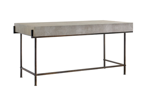 Lillian August Fine Furniture - Simone Shagreen Metal Desk - LA96339-01
