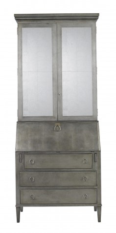 Lillian August Fine Furniture - Leif Secretary in Silver Leaf - LA92570-01