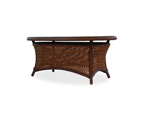 Lloyd Flanders - Grand Traverse Oval Cocktail Table with Woven Top - 71952