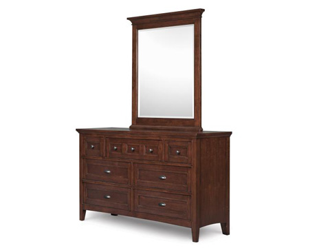 Magnussen Home - Riley Cherry Rectangular Portrait Mirror - Y1873-42