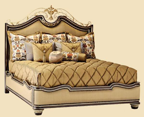Marge Carson - King Upholstered Panel Bed - TRC11