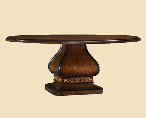 Marge Carson - Cross Channel Round Dining Table - CRC08W