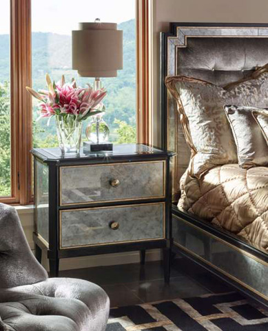 Marge Carson - Cross Channel Nightstand - CRC12