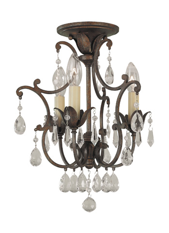 Feiss - Three - Light Mini Duo Chandelier - F1880/3BRB