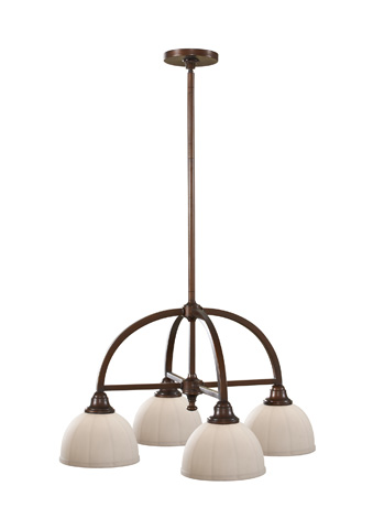 Feiss - Four - Light Kitchen Chandelier - F2582/4HTBZ