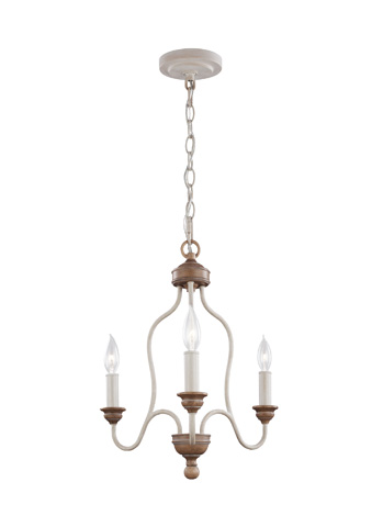 Feiss - Three - Light Chandelier - F2997/3CHKW/BW