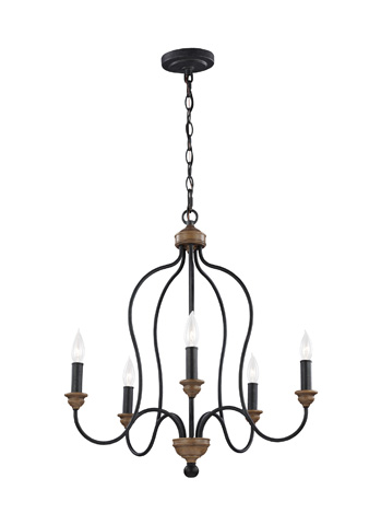 Feiss - Five - Light Chandelier - F2998/5DWZ/WO