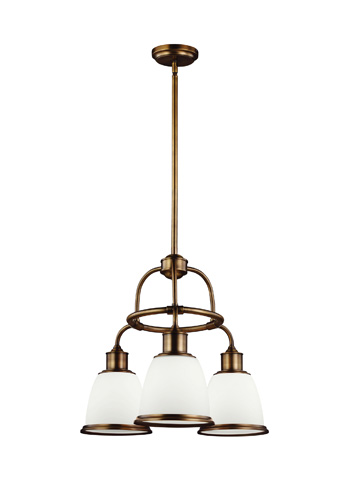 Feiss - Three - Light Chandelier - F3018/3AGB