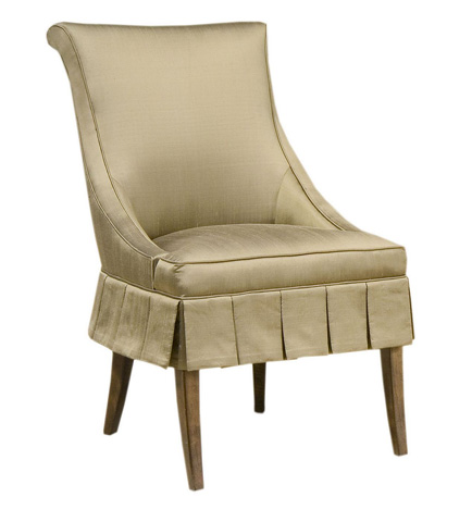 Pearson - Skirted Scroll Back Accent Chair - 1668-00