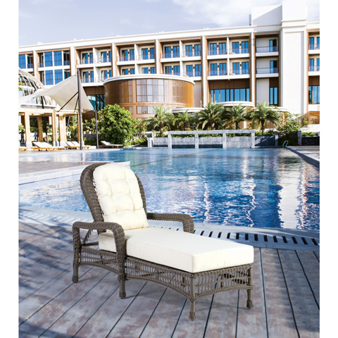 Pelican Reef - Panama Jack Carolina Beach Stackable Chaise Lounge - PJO-1301-GRY-CL