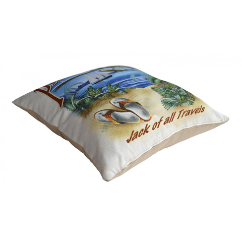 Pelican Reef - Panama Jack Jack of all Travels Throw Pillow - PJO-9001-JAT-TP