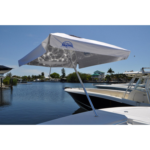 Pelican Reef - 8' Square Boating and Beach Umbrella 4 Piece Kit - XL-100