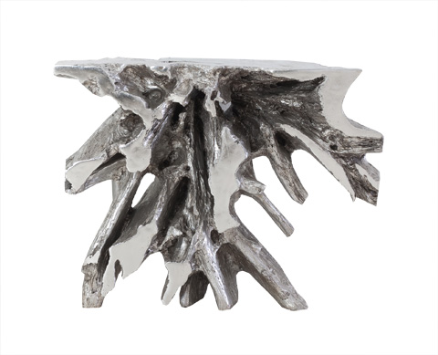 Phillips Collection - Luxe Freeform Console in Silver Leaf - PH64464