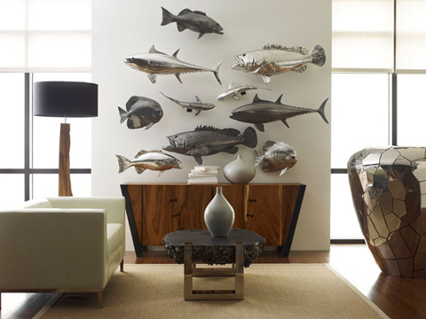 Phillips Collection - Bluefin Tuna Fish in Polished Aluminum - PH64548