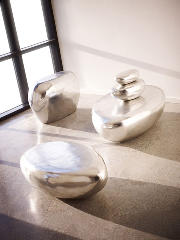 Phillips Collection - River Stone Table Top Sculpture - PH63666