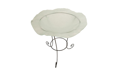 Phillips Collection - Frosted Glass Bowl on Stand - ID76849