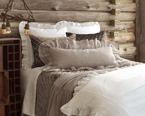 Pine Cone Hill, Inc. - Linen Mesh Decorative Pillow - LMDPDB