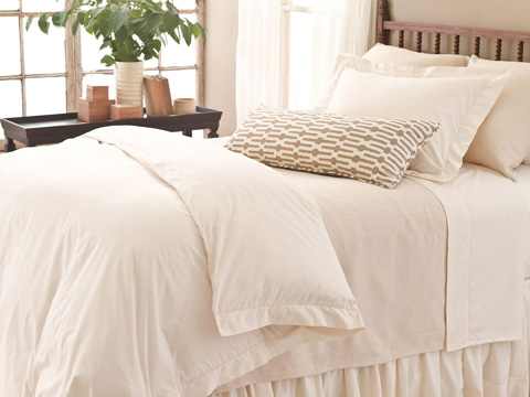 Pine Cone Hill, Inc. - Classic Hemstitch Ivory Bed Skirt in Queen - SCLHIBSQ