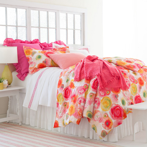 Pine Cone Hill, Inc. - Classic Hemstitch White Bed Skirt in Queen - SCLHWBSQ