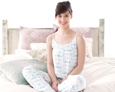 Pine Cone Hill, Inc. - Louisa Ivory Duvet Cover in Full/Queen - SELSIDCQ