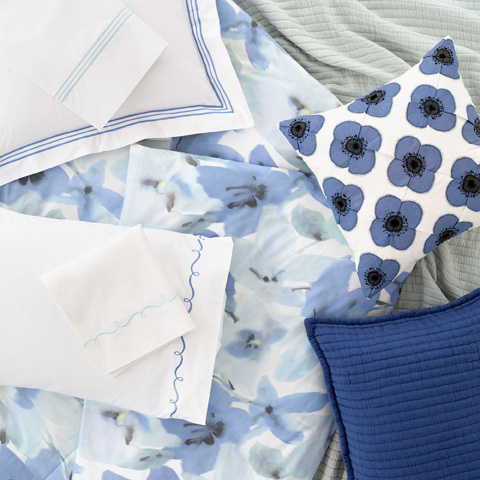 Pine Cone Hill, Inc. - Embroidered Hem Pair of Standard Pillowcases - SESBCSS