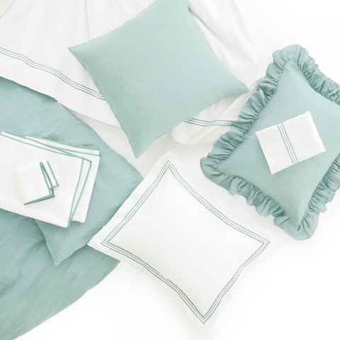 Pine Cone Hill, Inc. - Stone Washed Linen Sky Sham-Standard - SWLSSHS