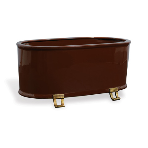 Port 68 - Glenda Brown Oval Planter - ACBS-217-06