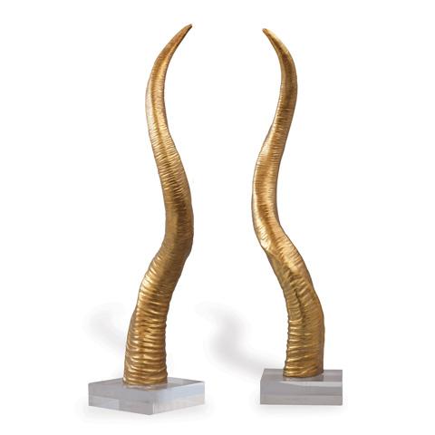 Port 68 - Safari Gold Horn Sculpture - ACFS-216-02