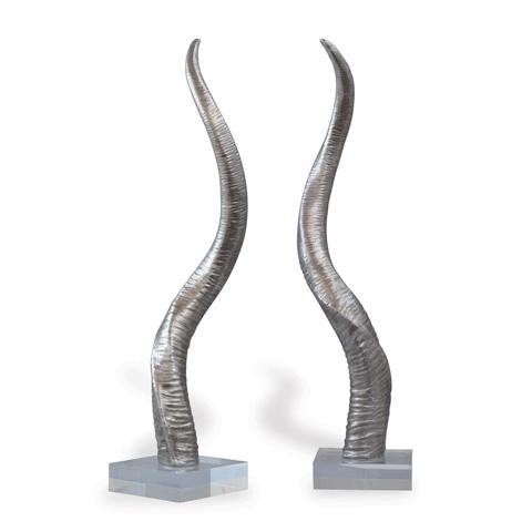 Port 68 - Safari Silver Horn Sculpture - ACFS-216-03