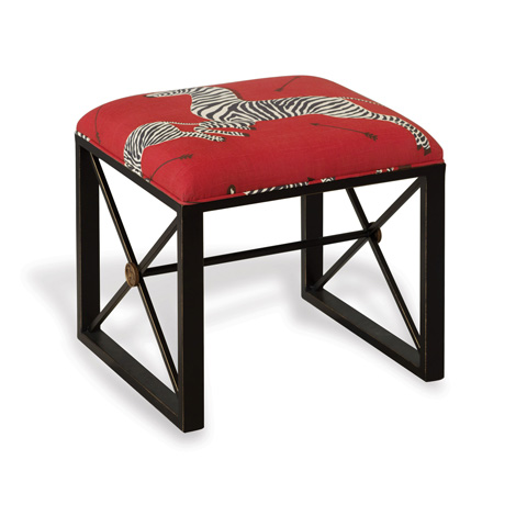 Port 68 - Medallion Black Le Zebre Left Facing Single Bench - AFBS-222-10