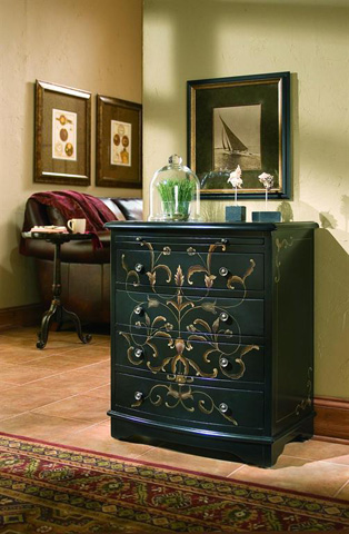Pulaski - Onyx Four Drawer Accent Chest - DS-603140