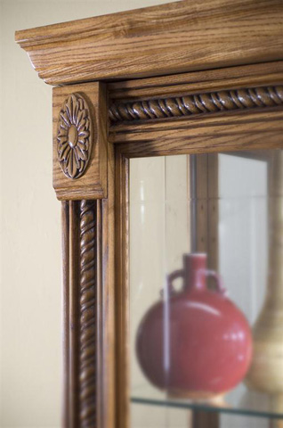 Pulaski - Estate Oak Two Way Sliding Door Curio - 20484