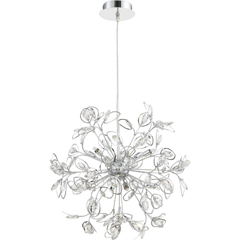 Quoizel - Platinum Collection Crystal Leaf Foyer Piece - PCCF2824C